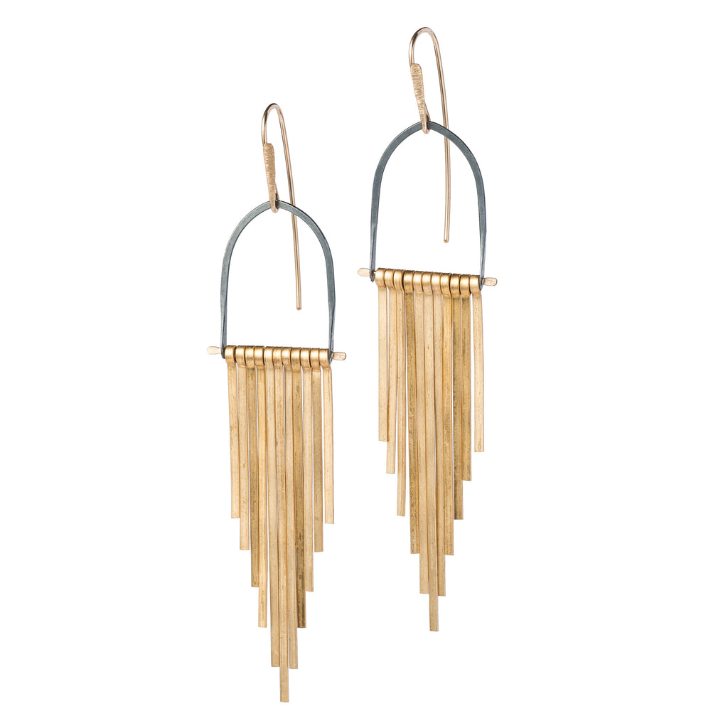 Brass Celestial Earrings