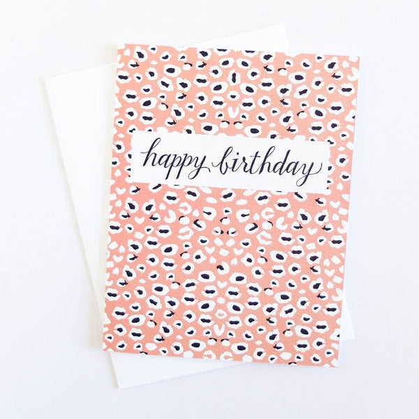 Leopard's Spots Birthday Card