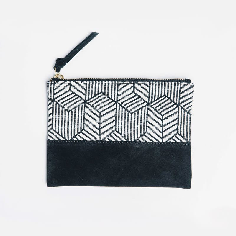Kina Cosmetic Bag - Black/White
