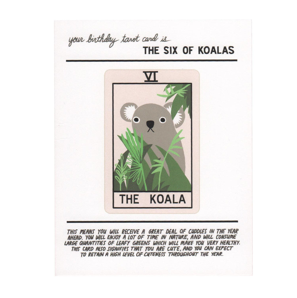 Koala Tarot Birthday Card
