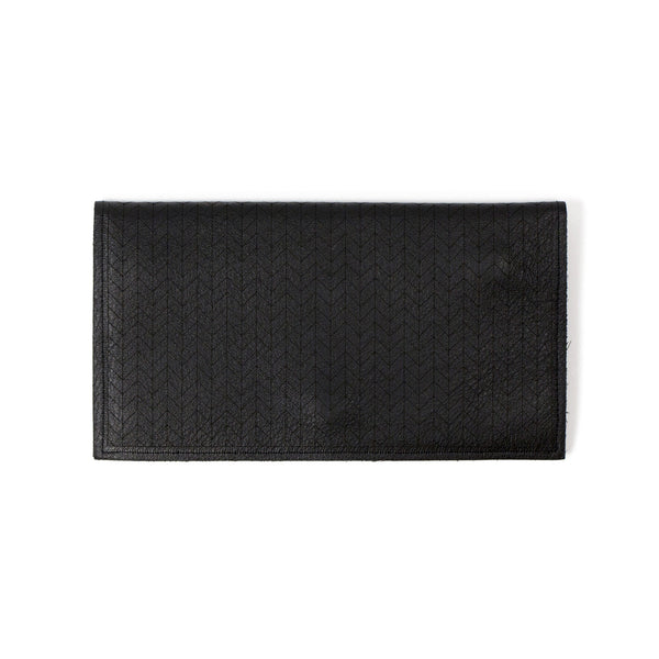 Molly M Leather Pouch wristlet in matte black
