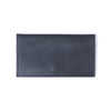 Molly M Leather Pouch wristlet in matte charcoal