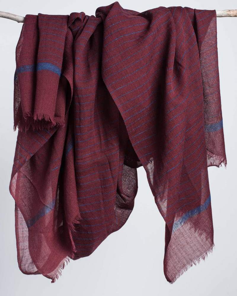 Bloom & Give - Madeira Cotton Scarf in burgundy