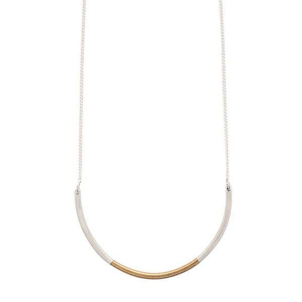"""Subete"" mixed metal necklace - betsy & iya"