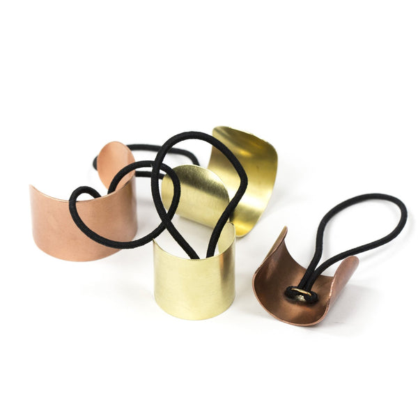 curved metal hair elastics