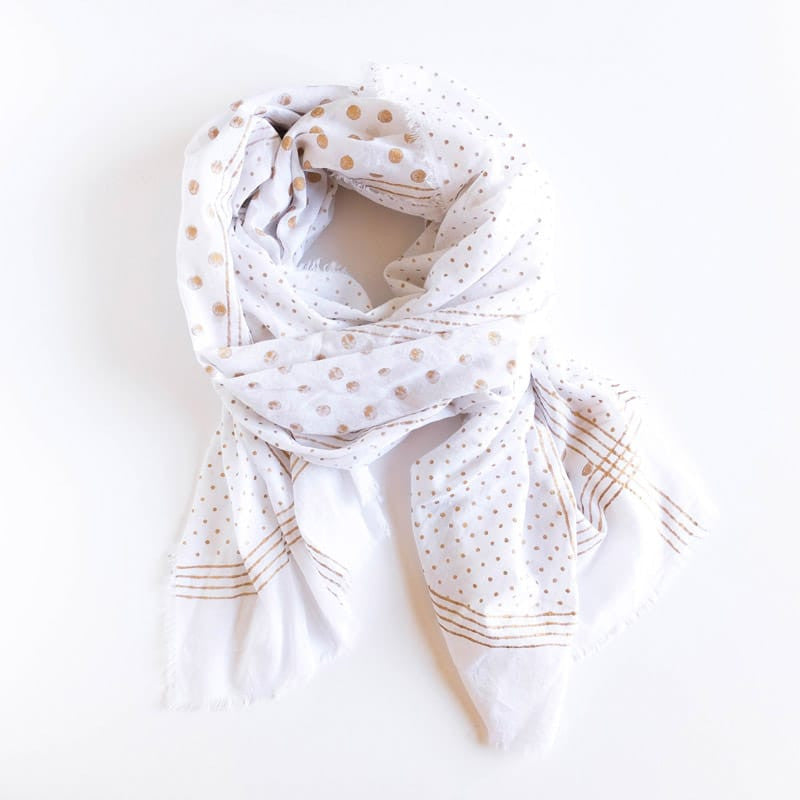 Moon Cotton Scarf - Gold