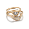 """Omnia"" & ""Cor"" half moon diamond ring matching set - betsy & iya"