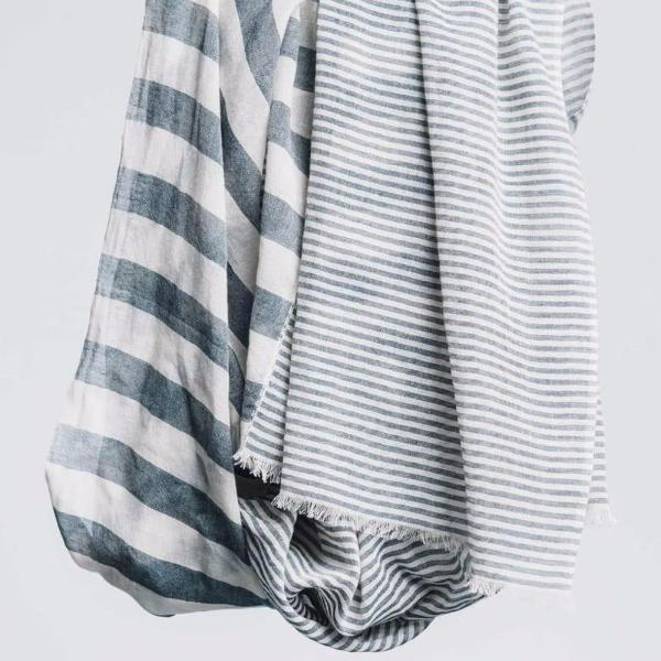 Bloom & Give - Sagar Cotton Scarf in gray