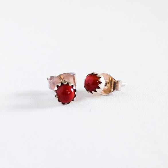 Simple Coral Stud Earrings