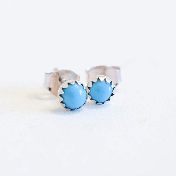 Simple Turquoise Stud Earrings