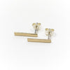 Upper Metal Class Minimalist Rectangle Bar Earrings bronze