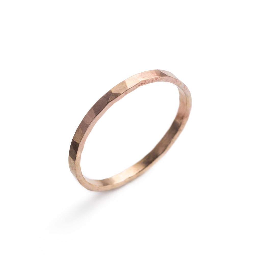 Faceted Gold-filled ring