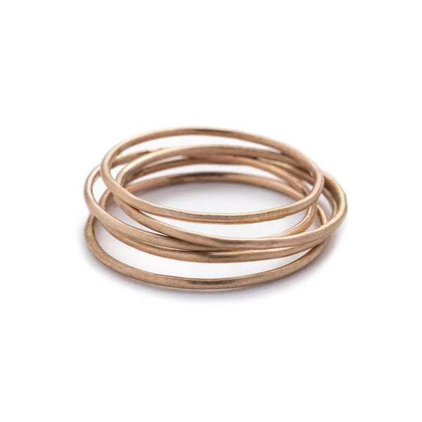 smooth gold filled stacking rings