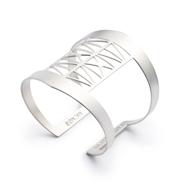 Steel Bridge Cuff Bracelet