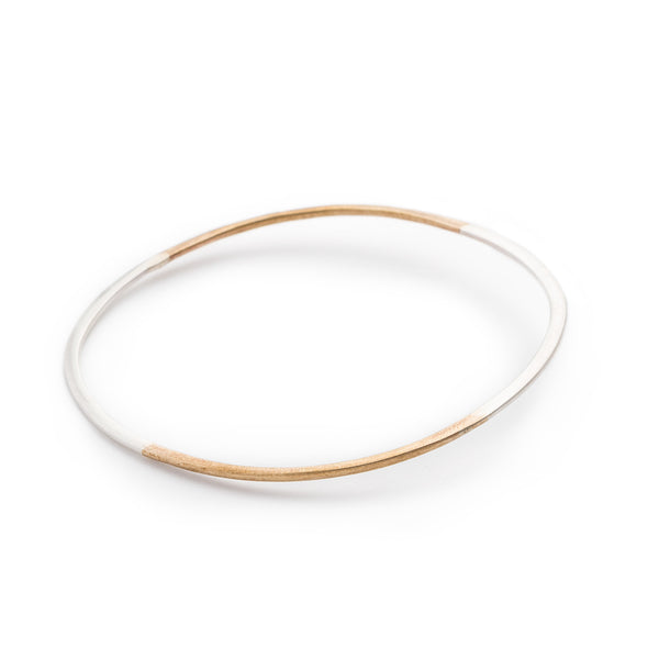 Lita Bangle mixed metal bracelet