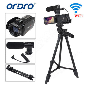 "ORDRO Z20 Full HD Digital Video Camcorder Camera DV 1080P 24MP 3""LCD 16X ZOOM with Microphone+Tripod"