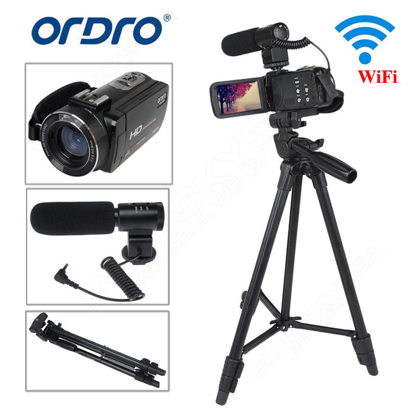 ORDRO Z20 Full HD Digital Video Camcorder Camera DV 1080P 24MP 3