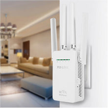 Load image into Gallery viewer, PIXLINK 300Mbps WR09 Wireless WIFI Router WIFI Repeater Booster Extender Home Network 802.11b/g/n RJ45 2 Ports Wilreless-N Wi-fi