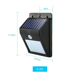 Waterproof Solar Lamp PIR Motion Sensor Wall Light Outdoor Solar Light Energy Saving Street Yard Path Home Garden Security Lamp