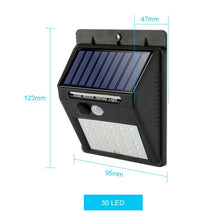 Load image into Gallery viewer, Waterproof Solar Lamp PIR Motion Sensor Wall Light Outdoor Solar Light Energy Saving Street Yard Path Home Garden Security Lamp