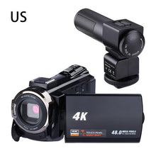 Load image into Gallery viewer, Digital HD Video Camera 4K WiFi Ultra 1080P 48MP 16X ZOOM Camcorder+Microphone+Wide Angle Lens Home Use Camera Video Recorder
