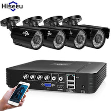 Load image into Gallery viewer, Hiseeu Home Security Cameras System Video Surveillance Kit CCTV 4CH 720P 4PCS Outdoor AHD Security Camera System