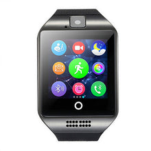 Load image into Gallery viewer, Wearable Devices Q18 Passometer Smart watch with Touch Screen camera TF card Bluetooth Fitness bracelet for Android IOS Phone