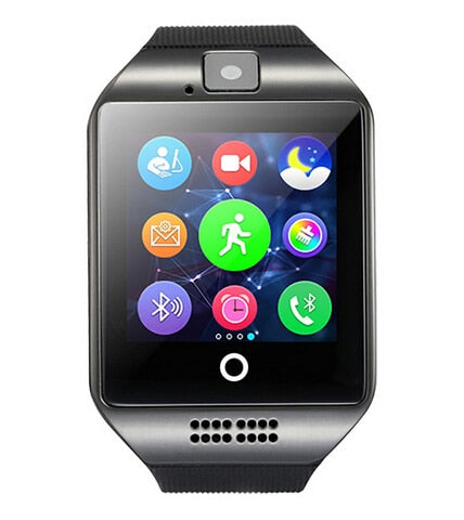 Wearable Devices Q18 Passometer Smart watch with Touch Screen camera TF card Bluetooth Fitness bracelet for Android IOS Phone