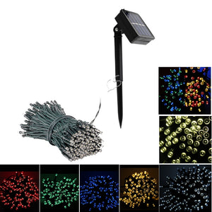 12 100LED / 22M 200 LED Solar String Fairy Lights Waterproof Outdoor Garland Solar Power Lamp Christmas For Garden Decoration