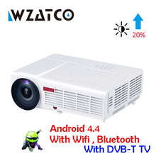 Load image into Gallery viewer, WZATCO LED96W LED 3D Projector 5500Lumen Android 7.1 Smart Wifi full HD 1080P support 4k Online video Beamer Proyector for home