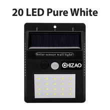 Load image into Gallery viewer, CHIZAO Solar Lights Outdoor Motion sensor Night security wall lamp 16 20 34 LED Waterproof Energy saving Garden Front door Yard