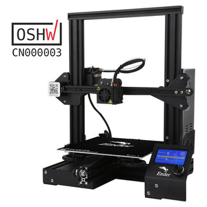 Newest Creality 3D Ender-3/Ender-3X/Ender-3 Pro Printer Kit FDM 3D Printer Print Size 220*220*250mm Full Metal Frame 3D Printer