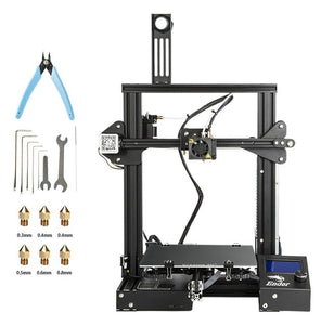Ender-3 3D printer DIY Kit Large Print Size Prusa i3 printer 3D Ender 3/Ender-3X Continuation Print power 110 hotbed 220*220*250
