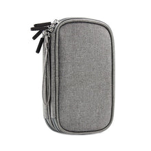 Load image into Gallery viewer, Travel Digital Cable Bag Portable Universal Cable Organizer Case Power Bank Earphones Double Layer Gadget Pouch Accessories Gear