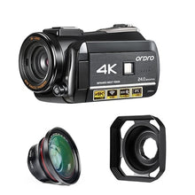 Load image into Gallery viewer, ordro UHD 4k WIFI digital video camera with 3.0'' Touch display wifi night vision digital video camcorder Hot shoe