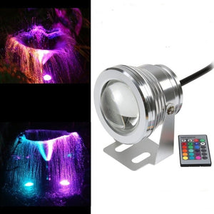 1pcs/lot RGB 10W DC12V underwater led fountain lights led pool lamp pond light IP67 under water led light