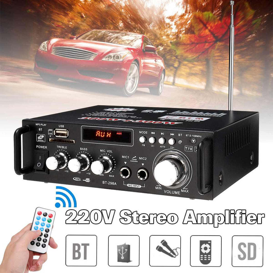 600w Car Amplifiers Audio bluetooth Amplifier Subwoofer Amplifier Audio Sound System Mini Amplifier Professional