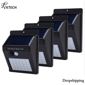1-4pcs LED Solar Light Motion Sensor Outdoor Garden Light Decoration Fence Stair Pathway Yard Security Solar Lamp Dropshipping