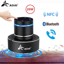 Load image into Gallery viewer, Adin 26W Vibration Speaker Bluetooth Bass Portable Speakers Wireless Resonance Touch Stereo Subwoofe NFC Handsfree with Mic