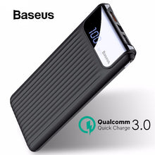 Load image into Gallery viewer, Baseus 10000mAh Quick Charge 3.0 USB Power Bank For iPhone X 8 7 6 Samsung S7 Edg Xiaomi Powerbank Battery Charger Bank QC3.0