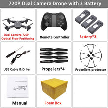 Load image into Gallery viewer, Visuo XS816 WiFi FPV RC Drone 4K Camera Optical Flow 720P Dual Camera RC Quadcopter Foldable Selfie Dron VS XS809S XS809HW SG106