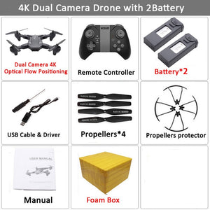 Visuo XS816 WiFi FPV RC Drone 4K Camera Optical Flow 720P Dual Camera RC Quadcopter Foldable Selfie Dron VS XS809S XS809HW SG106