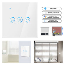 Load image into Gallery viewer, Smart Home WiFi Electrical touch Blinds curtain switch Ewelink APP Voice Control by Alexa Echo for Mechanical Limit Blinds Motor
