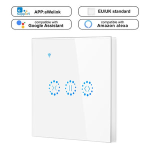 Smart Home WiFi Electrical touch Blinds curtain switch Ewelink APP Voice Control by Alexa Echo for Mechanical Limit Blinds Motor