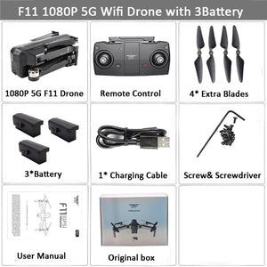 SJRC F11 GPS Drone with 5G Wifi FPV 1080P Camera Brushless Quadcopter 25mins Flight Time Gesture Control Foldable Dron Vs CG033