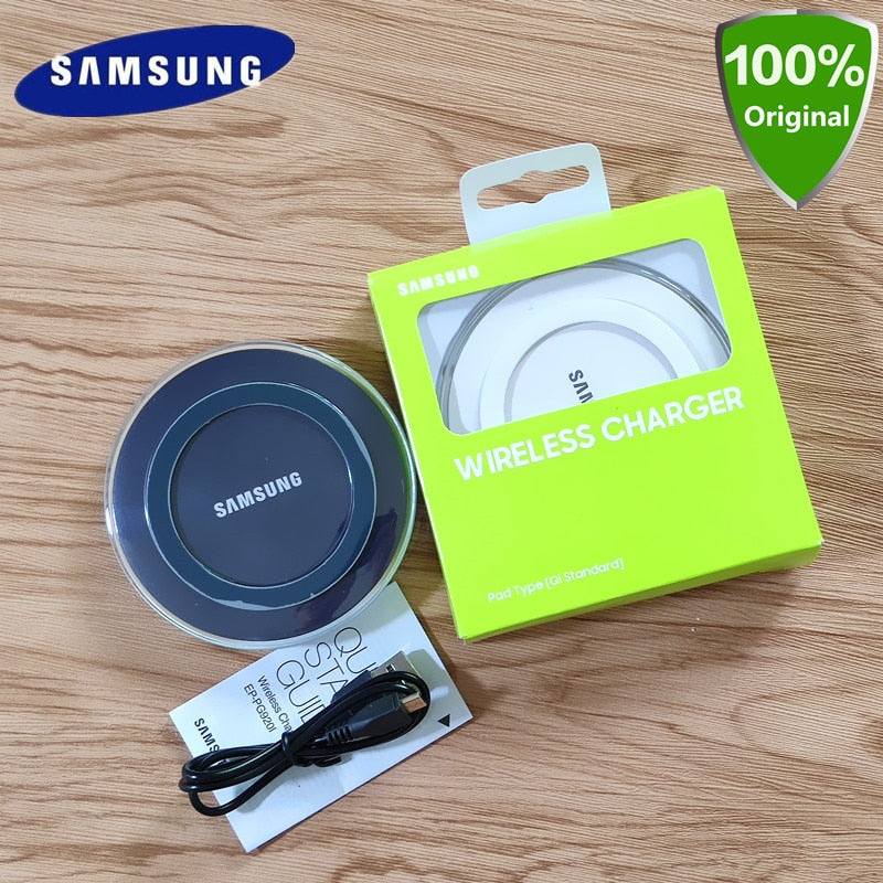 Original QI Samsung wireless charger pad S6 EDGE 5V 2A  Charger For Galaxy S7  S8 S9 S10 Plus Note 4 5 xiaomi 9 mi9