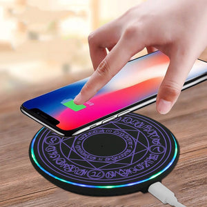Wireless Quick Mobile Phone Charger Usb Charging Mat Glowing Magic Array Fast Cell Phone Accessories Gift for Iphone 8 Lg Xiaomi