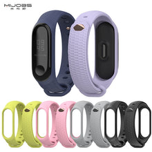 Load image into Gallery viewer, Mijobs Strap Silicone Wrist Strap for Xiaomi Mi Band 3 Accessories Miband 3 Smart Wristbands Bracelet Miband 3 Strap