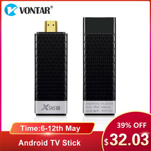 VONTAR X96S 4K TV Stick Android 8.1 4GB 32GB Amlogic S905Y2 Quad Core 2.4G&5GHz Dual Wifi BT4.2 1080P H.265 4K 60pfs TV Dongle