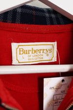 Womens Burberry 1/4 Zip Sweatshirt (L)